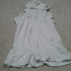 White Tericloth Hooded Coverup
